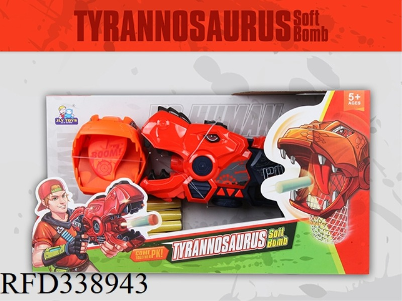 T-REX SOFT BULLET GUN WITH VOICE