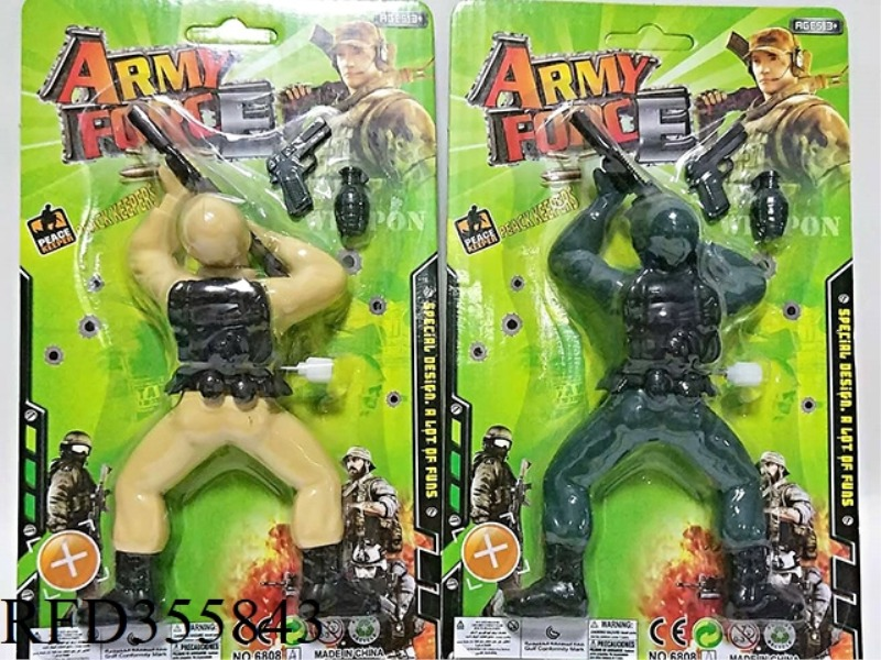 SOLID COLOR ON THE CHAIN CLIMBING SOLDIER WITH GUN GRENADE
