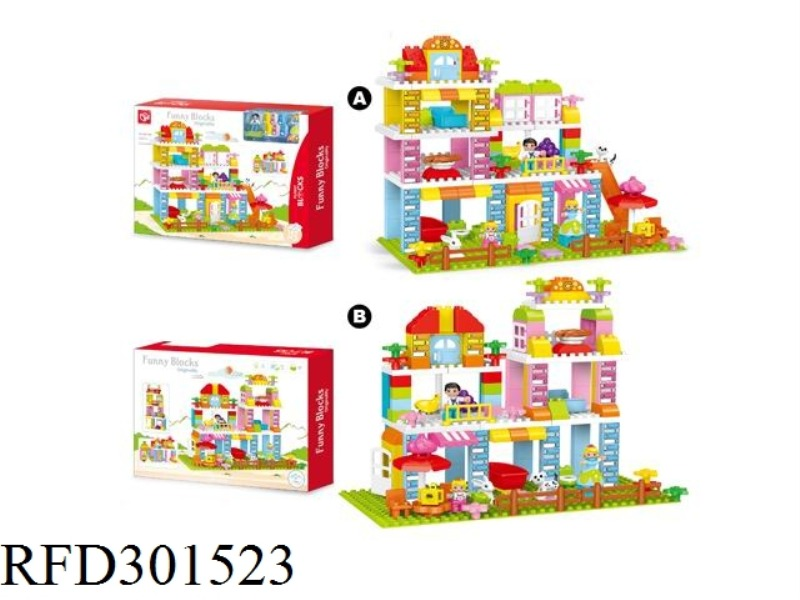BUILDING BLOCKS-GARDEN VILLA 142PCS