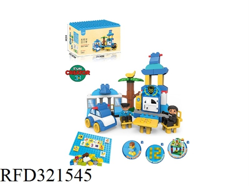 POLICE ESCORT BUILDING BLOCKS(105PCS)