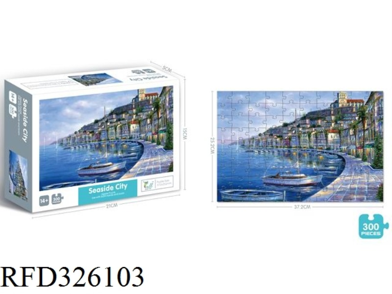 CITY BY THE SEA  PUZZLE 300 PCS
