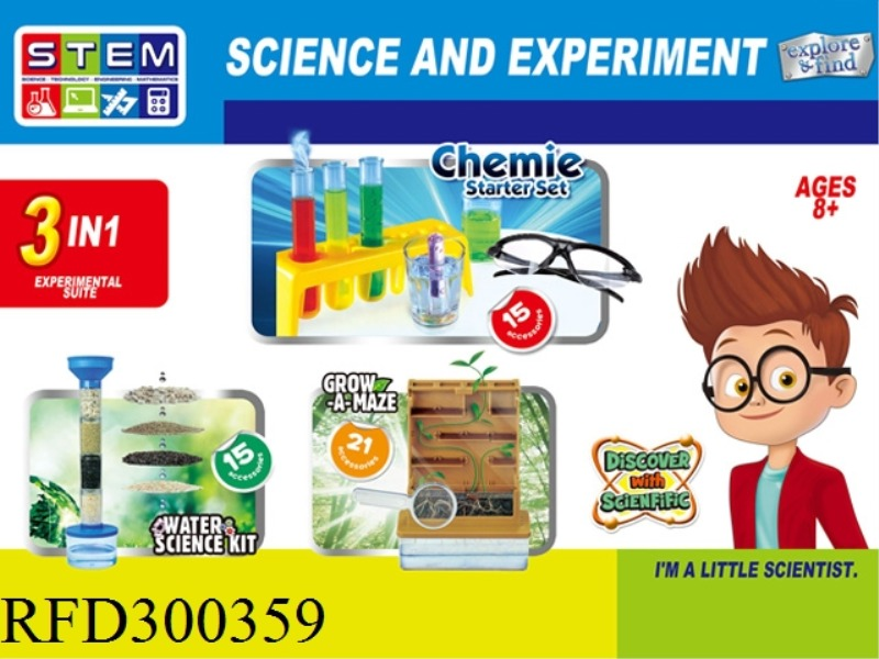 SCIENCE AND EDUCATION SET 3 IN 1