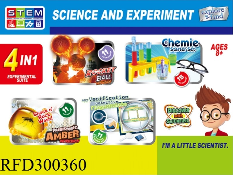 SCIENCE AND EDUCATION SET 4 IN 1