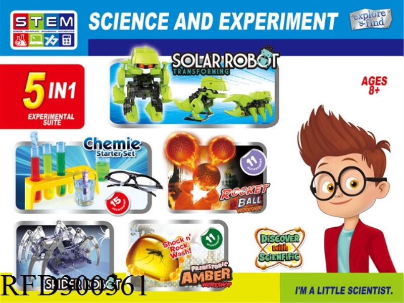 SCIENCE AND EDUCATION SET 5 IN 1