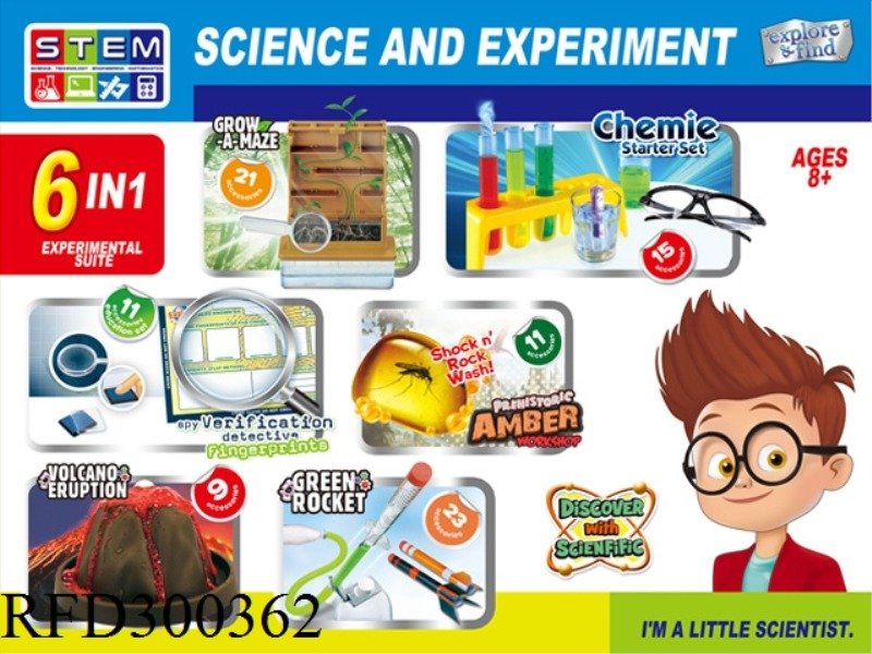 SCIENCE AND EDUCATION SET 6 IN 1