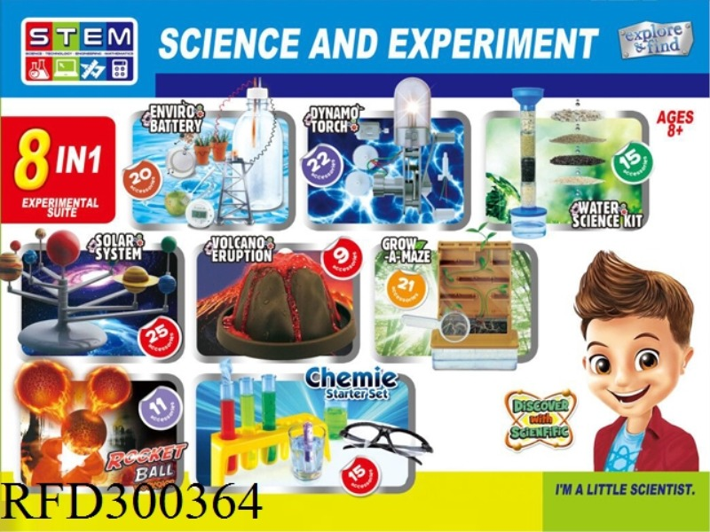 SCIENCE AND EDUCATION SET 8 IN 1