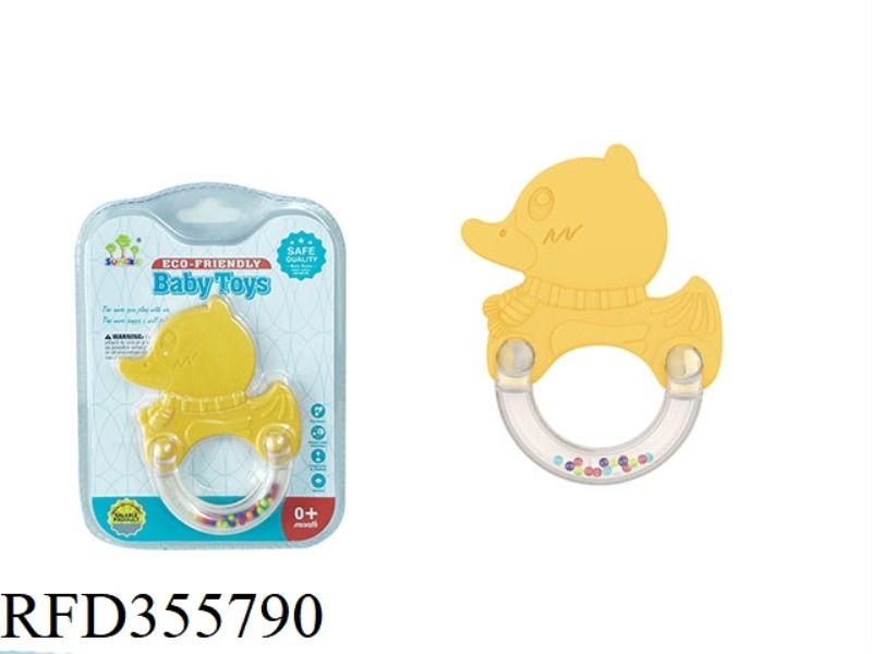LITTLE YELLOW DUCK TEETHER RATTLE