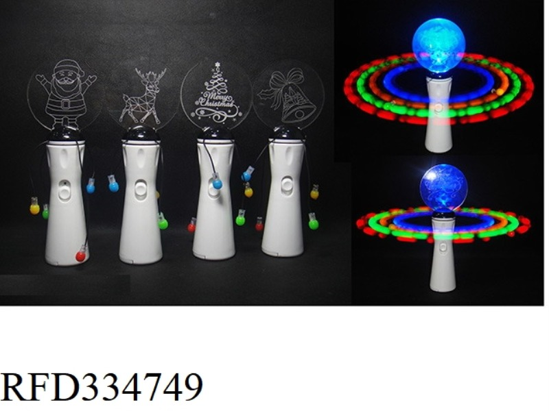 ACRYLIC 3D STEREOGRAM 7 LAMP SWINGING STICK WITHOUT MUSIC