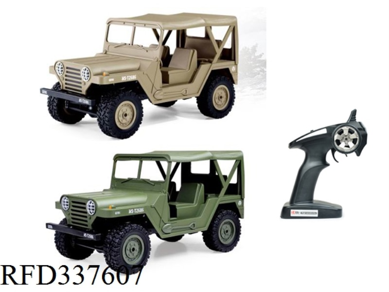 2.4GHZ (1:14) FOUR-WHEEL DRIVE CAR WITH ELECTRIFIED AMERICAN M151 JEEP