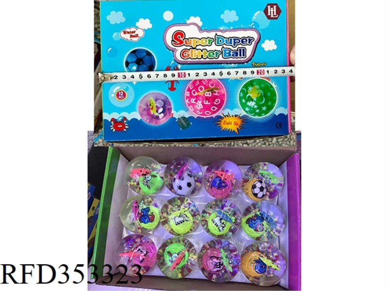 5.5CM STARFISH FLASH BALL 12PCS PACK