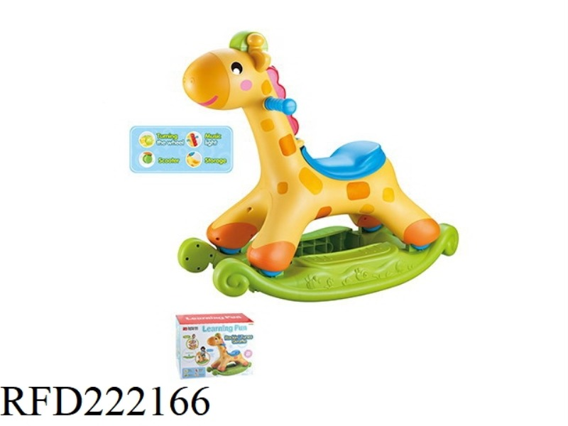 GIRAFFE SHAKE CAR 2 IN 1 WITH LIGHT AND MUSIC