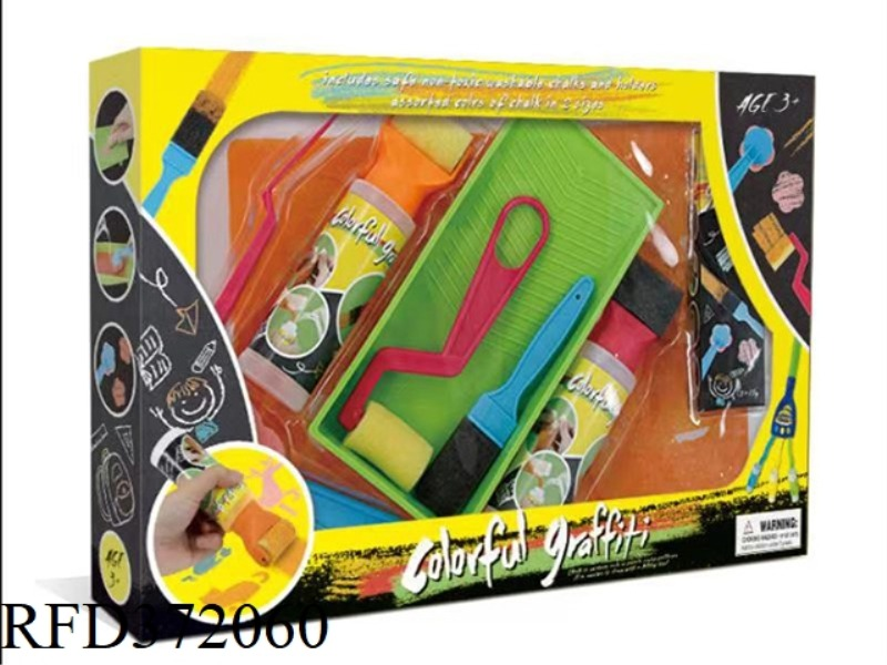 CHALK DOODLE MIDDLE BOX SET 13 PIECE SET WITH 3 CARD BOARDS