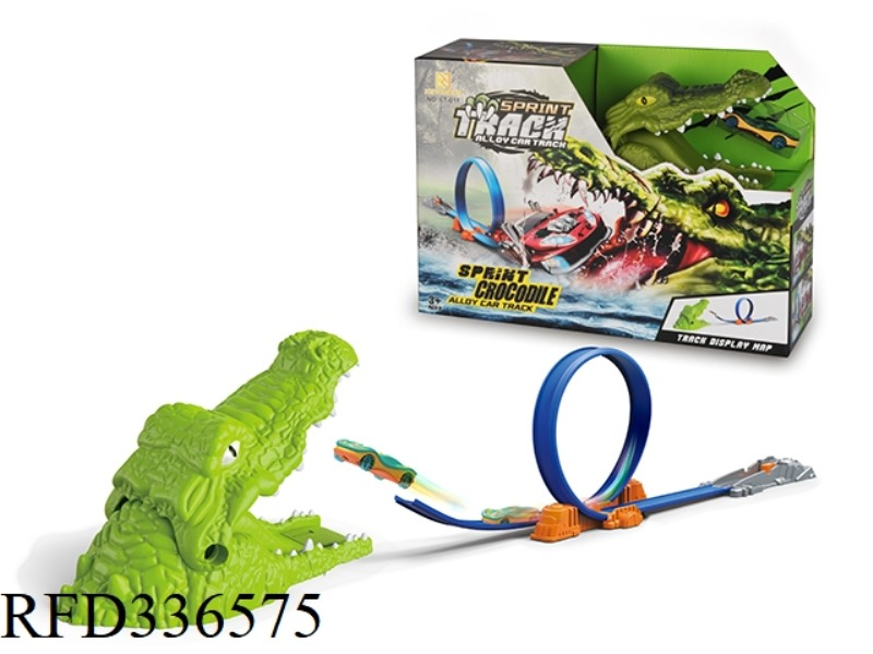 CROCODILE SCENE EJECTION TRACK ALLOY CAR