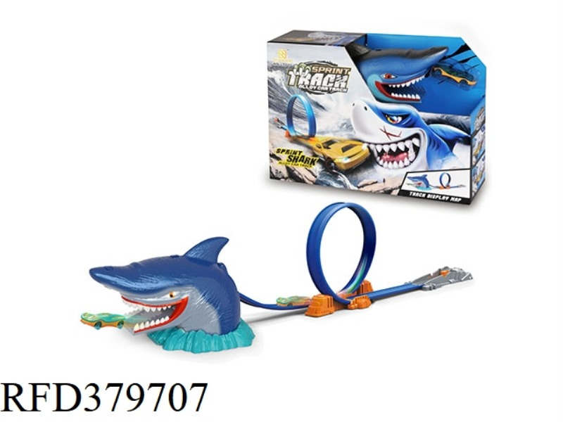 SHARK SCENE EJECTION TRACK ALLOY CAR