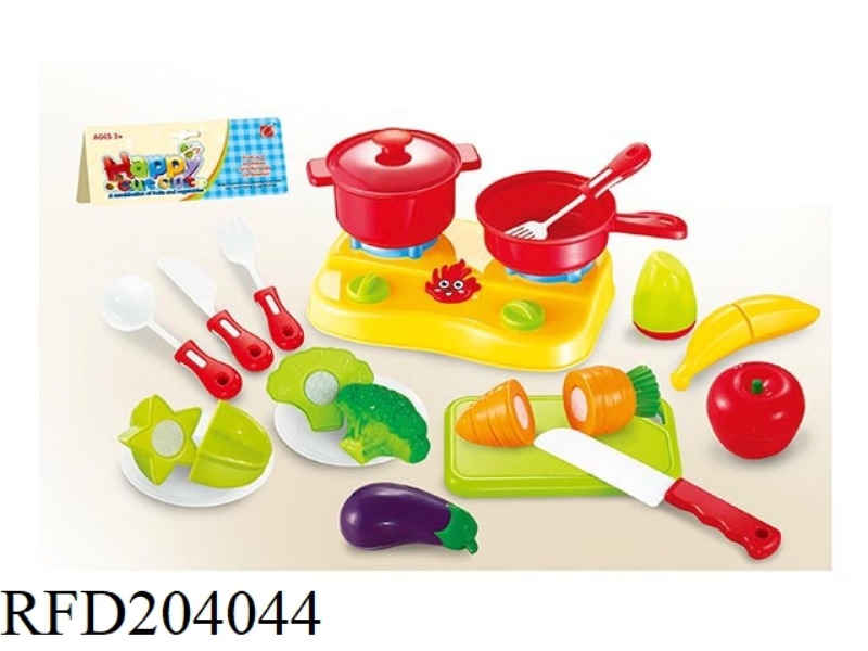 CAN CHOP FRUIT VEGETABLE WITH STOVE SET 19PCS