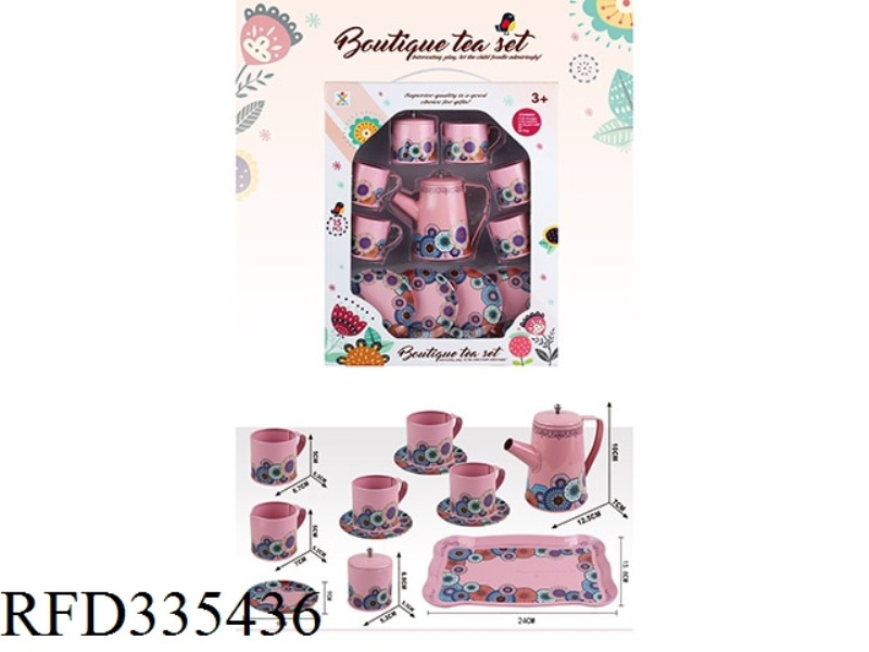 PLAY HOUSE TINPLATE HIGH POT PURE COLOR FLOWER